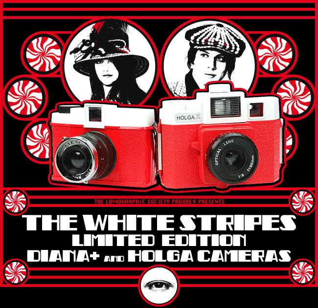 White Stripes Holga & Diana+